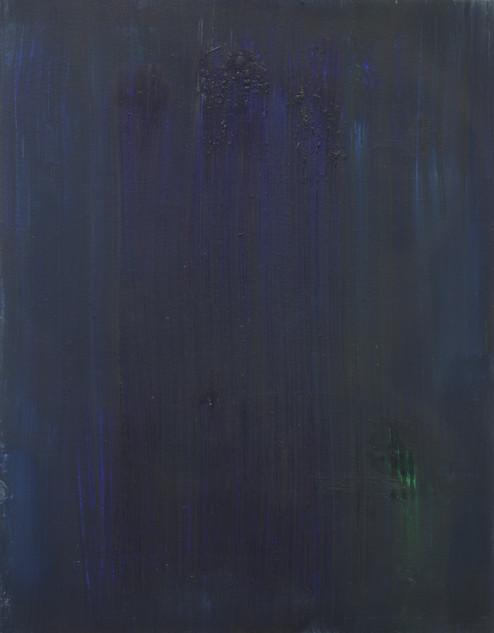 Study X (MR), 2018, oil on paper, 42x35 cm.