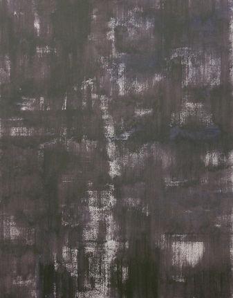 De donkere nacht III, olieverf op papier