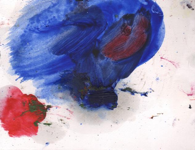 Painters Mind VII, 2019, oil on paper, 23x17 cm.