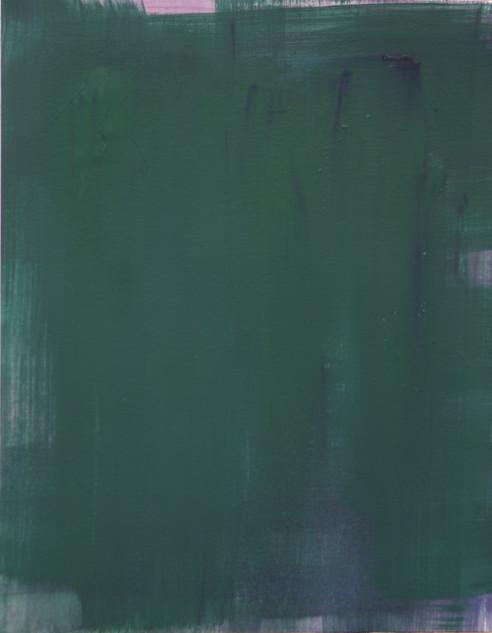 Study V (MR), 2018, oil on paper, 42x35 cm.