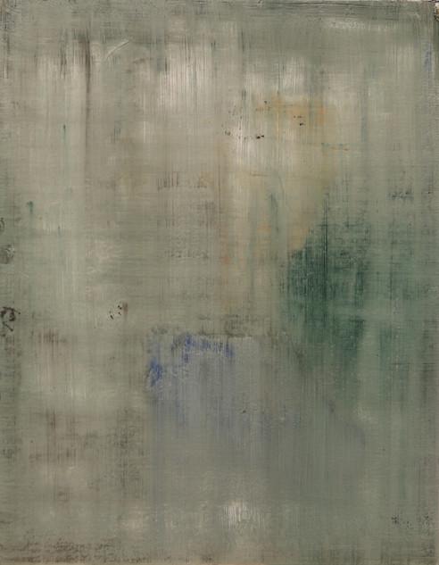 Study XII (MR), 2018, oil on paper, 42x35 cm.