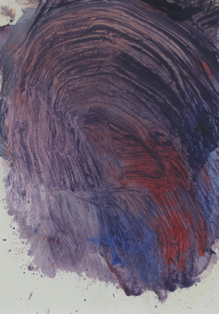 Throat, 2016, oil on paper, 30x20 cm.
