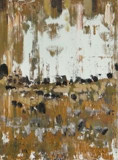 Getijden-het land, olieverf op doek, 40x