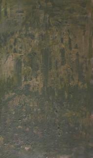 Getijden-nacht, olieverf op doek, 100x60