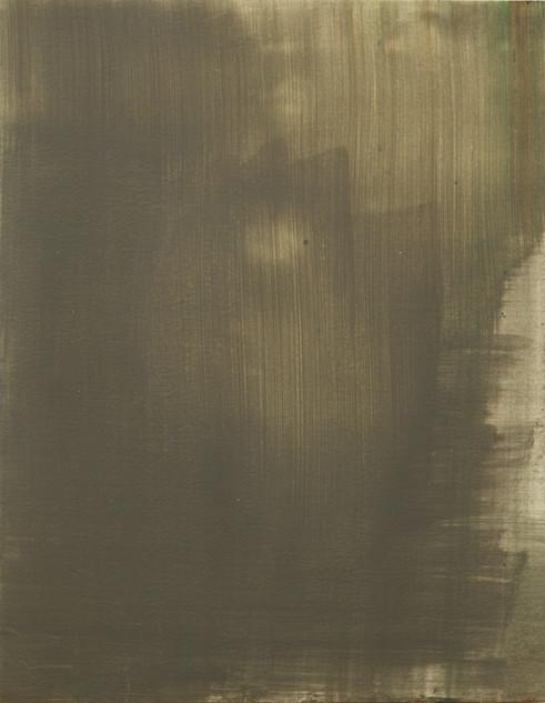 Study VIII (MR), 2018, oil on paper, 42x35 cm.