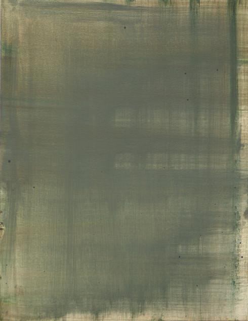 Study VII (MR), 2018, oil on paper, 42x35 cm.