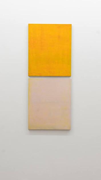 Otium I and II, 2018, oil on canvas, each 60x50 cm