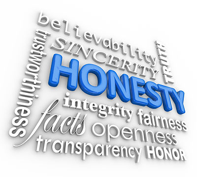 Honesty Sincerity 3d Word Collage Reputa