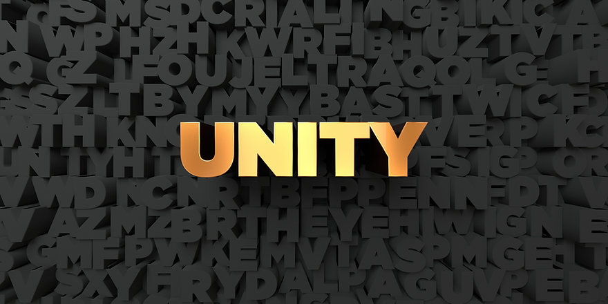 Unity - Gold text on black background -