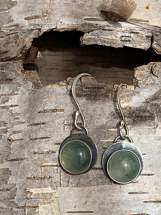 "Prehnite and Sterling Earrings ~ ""Fresh"""