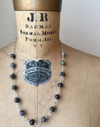 Leland Blue & Sterling Necklace