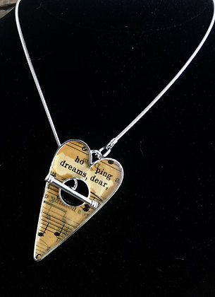 """Dreams, Dear"" Toggle Heart Necklace"