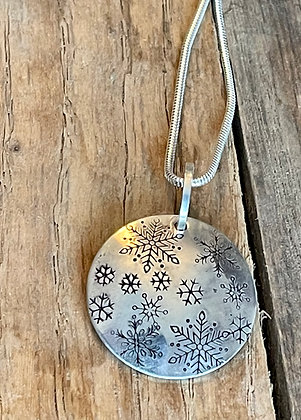 """Sterling Silver Necklace - """"Snowfall"""""""