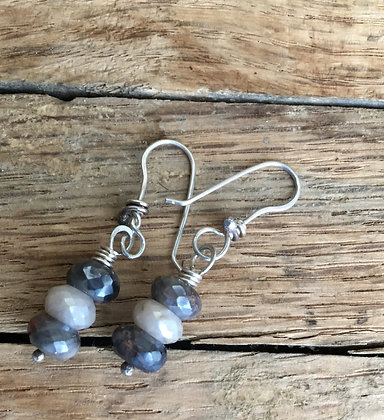 Corundum and Sterling Earrings