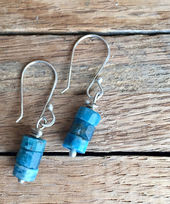 "Apatite and Sterling ""Bit of Blue"" Earrings"