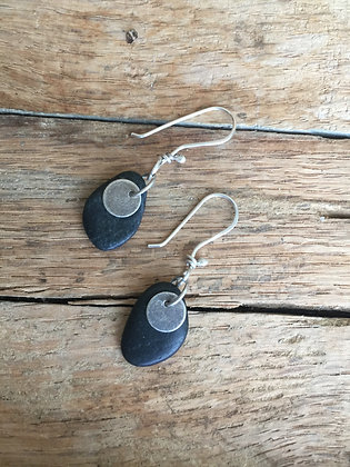 Stone and Sterling Earrings - Dark Stones #1