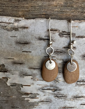Stone and Sterling Earrings
