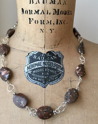 Rhyolite and Sterling Silver Necklace