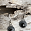 "Thumbnail: Black Spinel and Sterling Silver Earrings - ""Mysterious"""