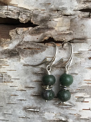 Leland Blue (Green) and Sterling Silver Earrings
