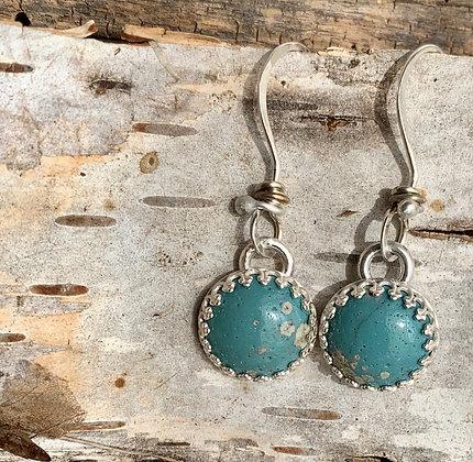 Leland Blue and Sterling Silver Earrings