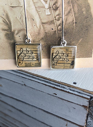 Square music earring