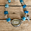 "Thumbnail: ""Love"" Blue Apatite and Sterling Silver Bracelet"