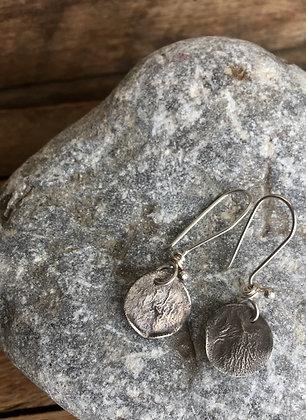 Silver Texture Earrings