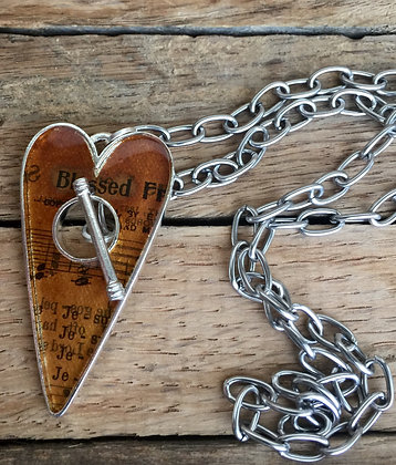 """""""Blessed"""" Toggle Heart Necklace"""