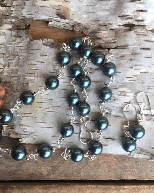 Swarovski & Sterling Necklace & Earrings