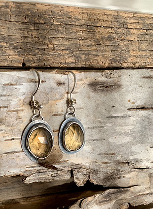 "Citrine and Sterling Earrings ""Brilliance"""