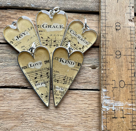 Hymnal Necklace Collection #1