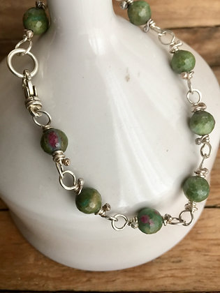 "Ruby in Zoicite ""Classic Stone"" Bracelet"