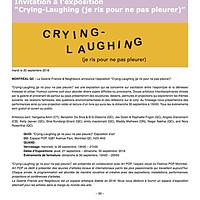 Crying-Laughing (je ris pour ne pas pleurer) Media Advisory