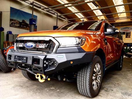 Ford Ranger Alu-Cab, Rival Stossstange, Horntools Rockslider
