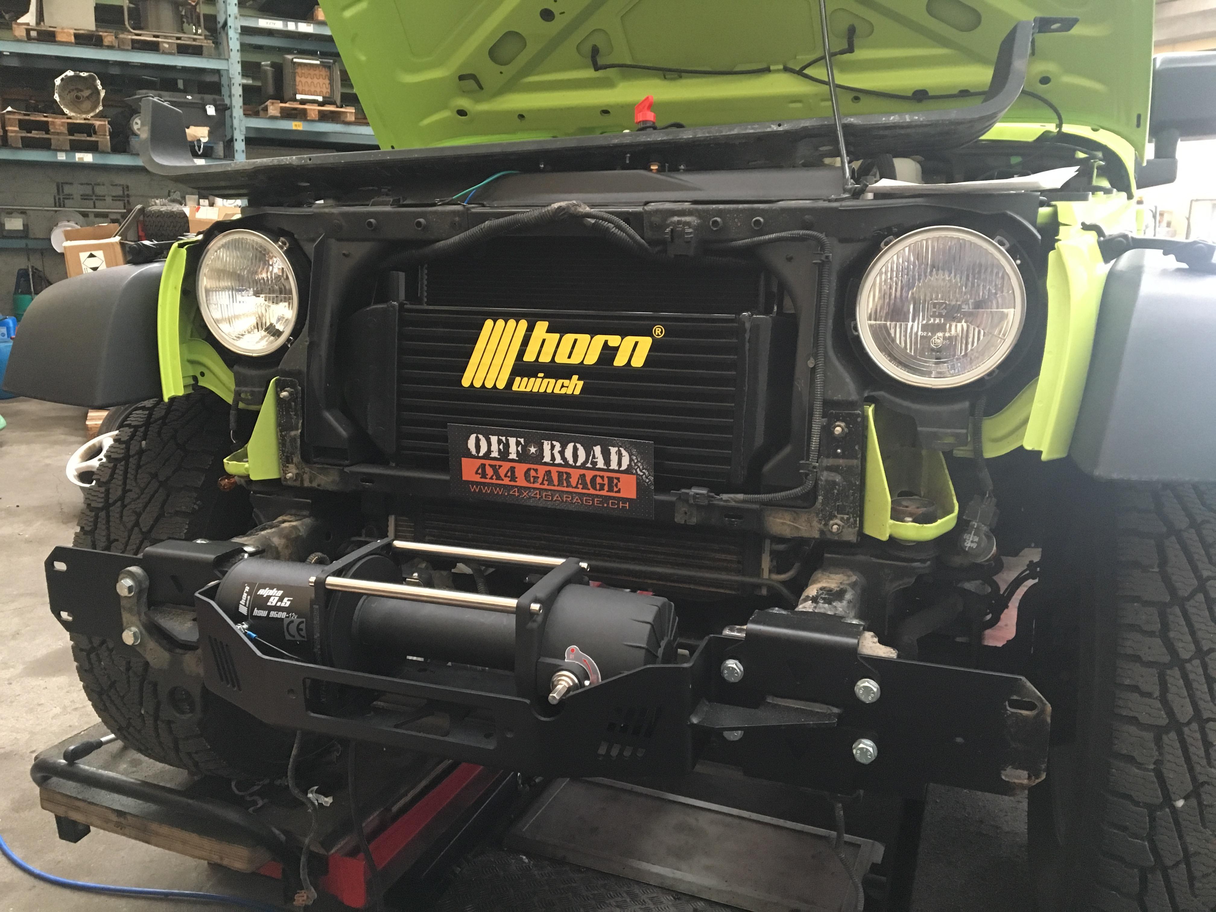 Horntools Seilwinde Jeep