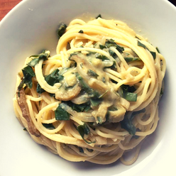 Pasta cremosa, vegana y saludable