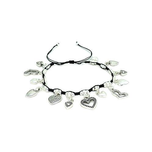 Hearts charms bracelet