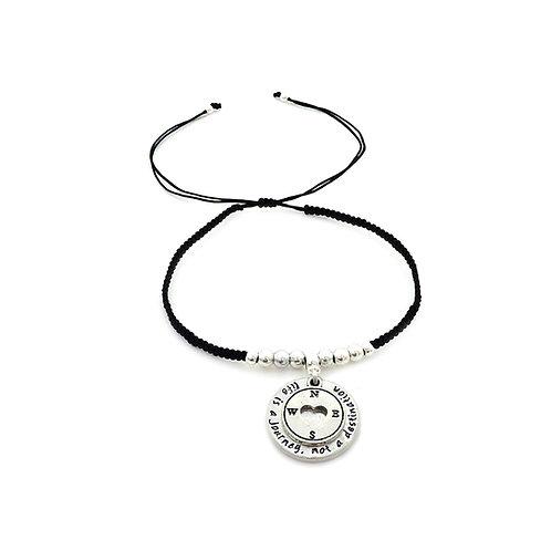Compass charm bracelet