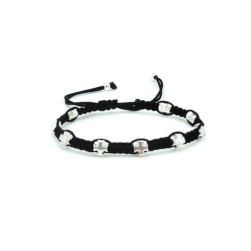 Micro cross bracelet