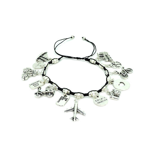 Travel charms bracelet