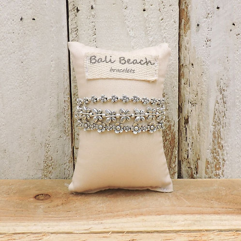 Butterfly silver bracelet