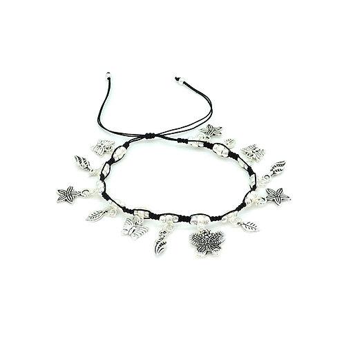 Garden flower charms bracelet