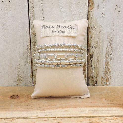 Precious rocks silver bracelet