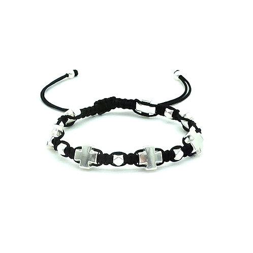 Greek cross bracelet