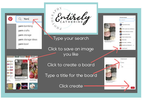 Simple Info-graphic on how to create a Pinterest board
