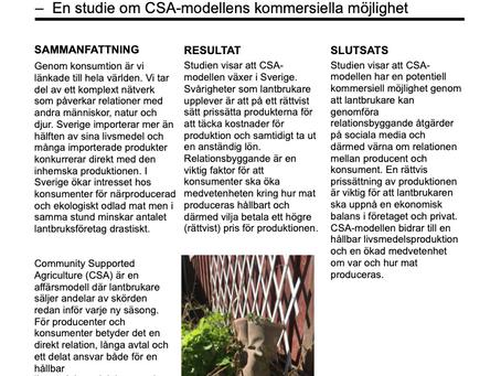Community Supported Agriculture (CSA) i svenska lantbruk