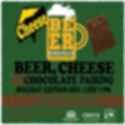 Holidaybeer cheese and chocolate square-