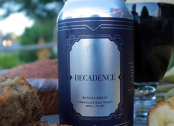 355ml Decadence - (Banana Bread) Chocolate Milk Stout (7% ABV)