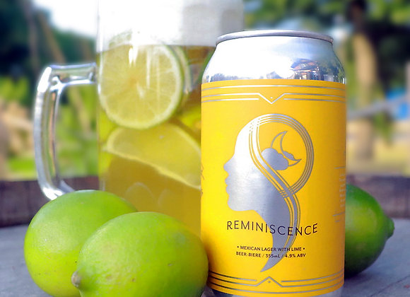 355 ml Reminiscence (with Lime) - Mexican Lager (4.9% ABV)